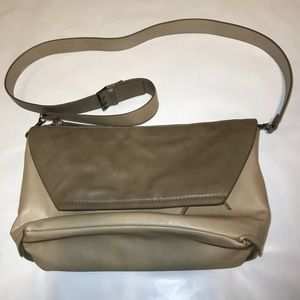 Faux Leather Convertible Crossbody/Clutch Bag